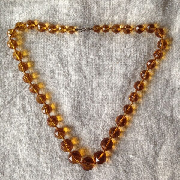Amber Glass Necklace
