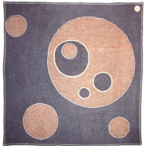 Circles Blanket Made from vintage army blankets