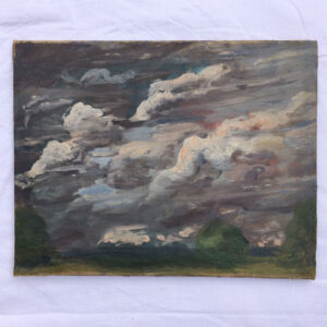 An oil study of clouds
